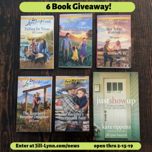 6 book giveaway!