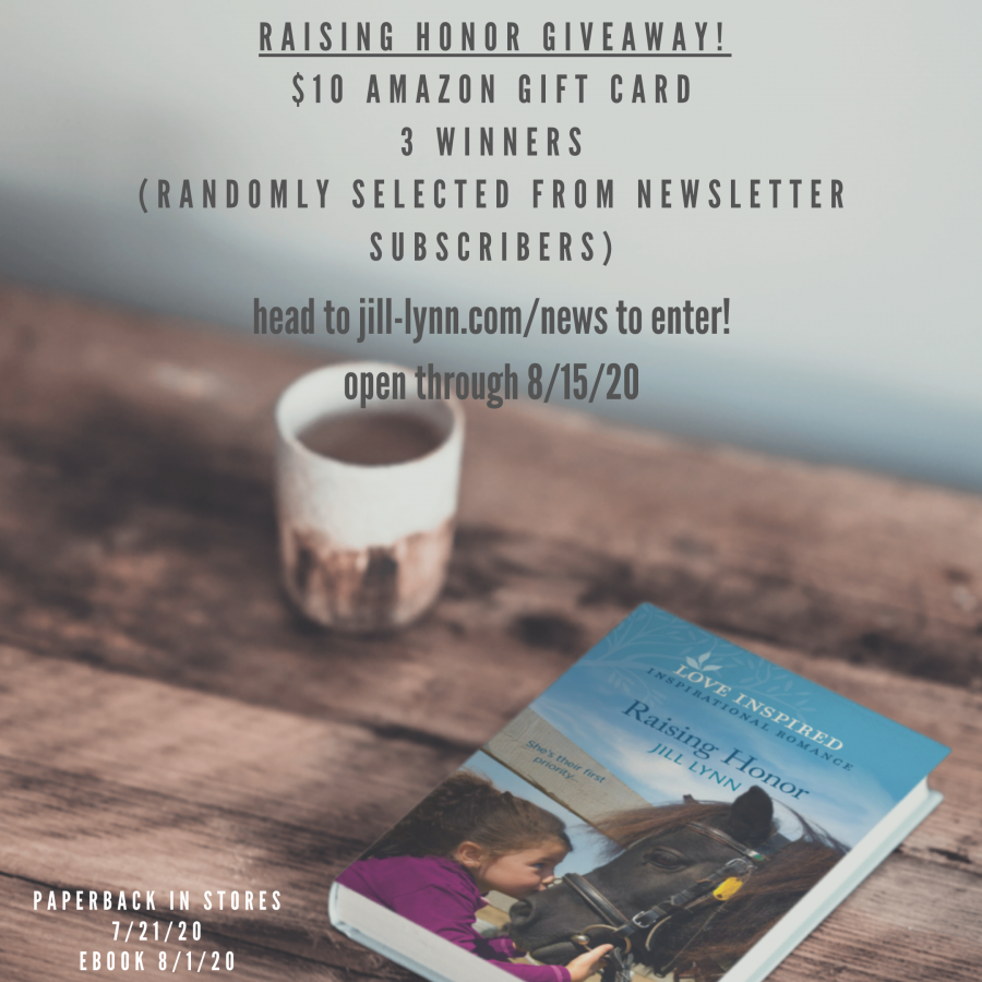 newsletter giveaway Raising Honor