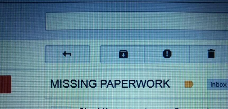 missing paperwork